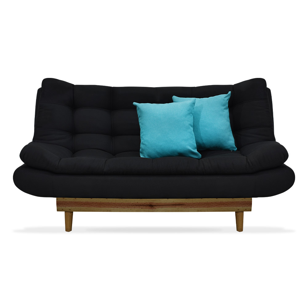 Sofa Cama Decor Poliester Negro